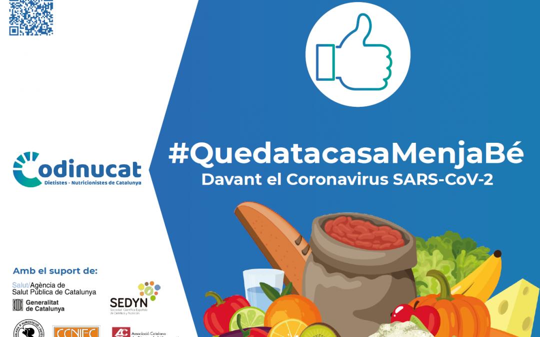Campaña Quédate en casa y come saludablemente en la Asociación de Dietiestas-Nutricionistas de Cataluña