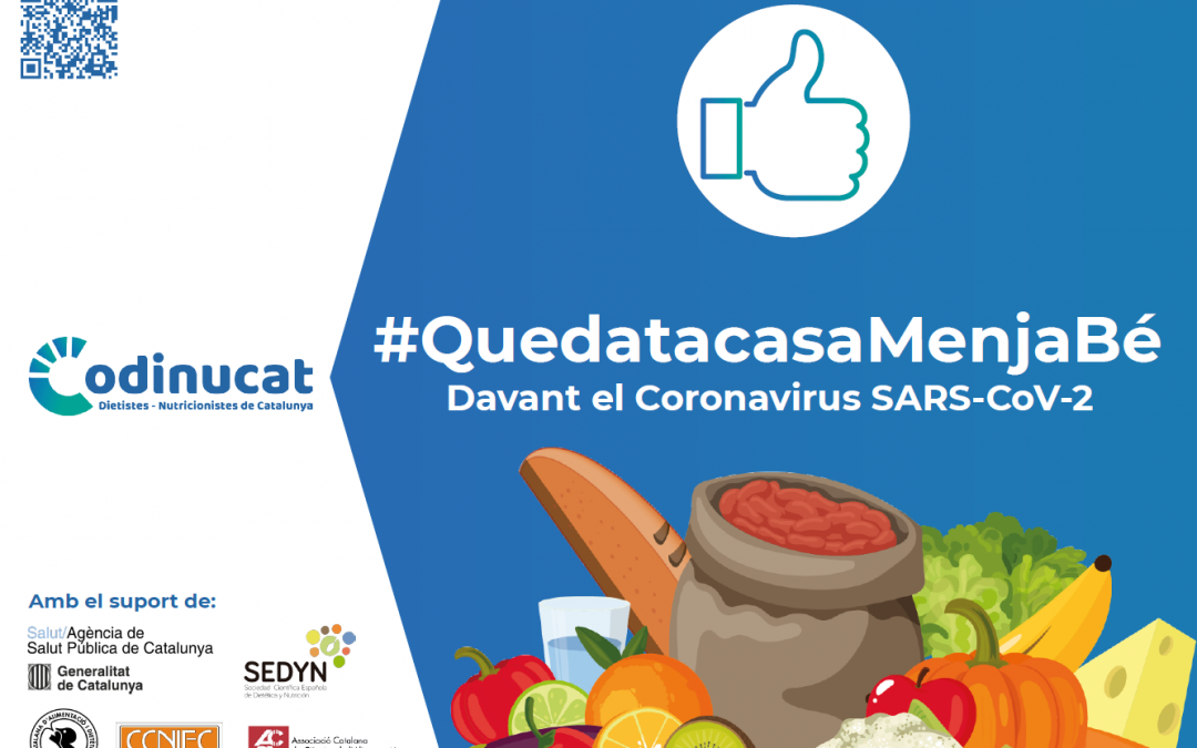 Campanya Queda't a casa i menja sa del Col·legi de Dietiestes-Nutricionistes de Catalunya